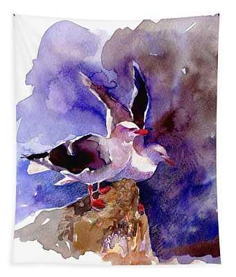 Dolphin Gulls Tapestry