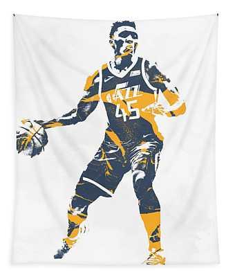 Donovan Mitchell Utah Jazz Pixel Art 10 Tapestry