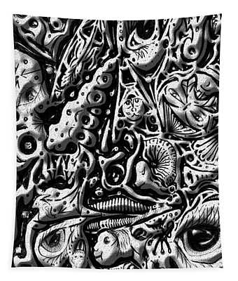 Doodle Emboss Tapestry