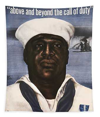 Dorie Miller - Above And Beyond - Ww2 Tapestry