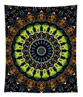 Tapestry featuring the digital art Dotted Wishes No. 3 Kaleidoscope by Joy McKenzie
