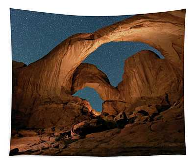 Double Arch And The Milky Way - Arches National Park - Moab, Utah. Tapestry