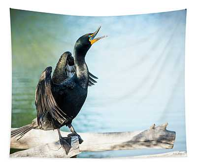 Double-crested Cormorant Tapestry