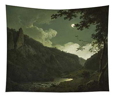 Dovedale By Moonlight Tapestry