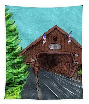 Downtown Frankenmuth Michigan Impressionistic Landscape Xxxix Tapestry