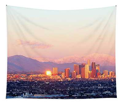 Downtown Los Angeles, Sunset, California Tapestry