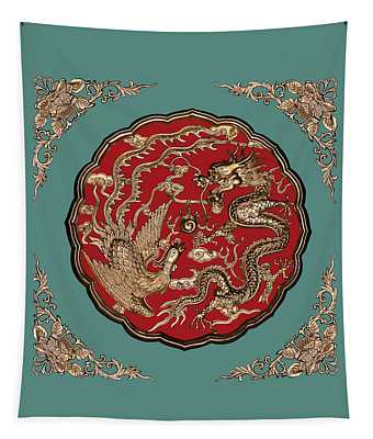 Dragon And Phoenix Tapestry