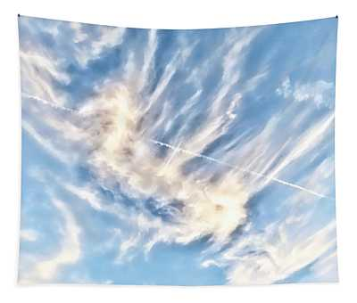 Dragon In The Flight Path Tapestry