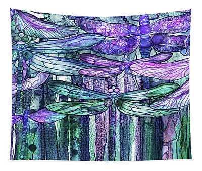 Dragonfly Bloomies 4 - Lavender Teal Tapestry