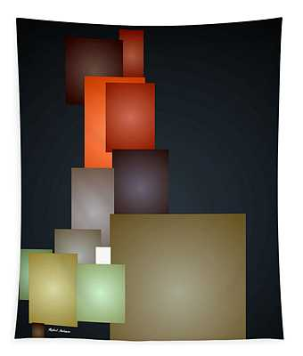 Dramatic Abstract Tapestry