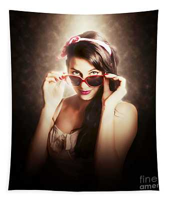 Dramatic Pin Up Fashion Photograph Tapestry