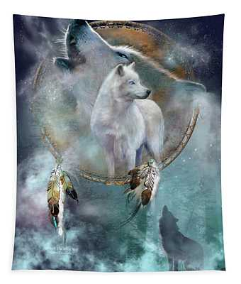Dream Catcher - Spirit Of The White Wolf Tapestry