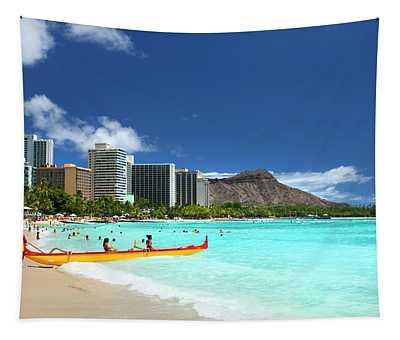 Dreamy Waikiki Tapestry