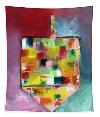 Dreidel Of Many Colors- Art By Linda Woods Tapestry