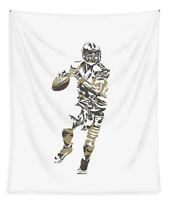 Drew Brees New Orleans Saints Pixel Art T Shirt 1 Tapestry
