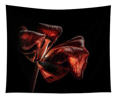 Dried Tulip Blossom Tapestry