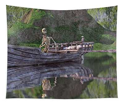 Drifter On The Lake Tapestry