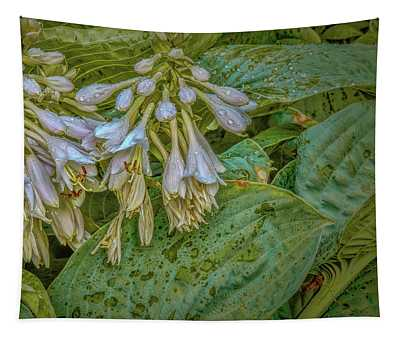 Droplets On White #h6 Tapestry