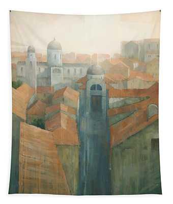 Dubrovnik Rooftops Tapestry