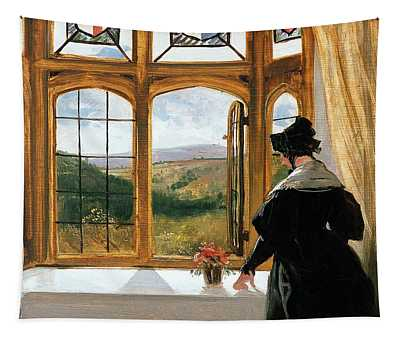 Duchess Of Abercorn Looking Out Of A Window Tapestry