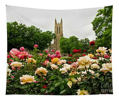 Duke Chapel And Roses Tapestry