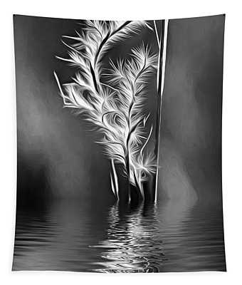Dune Grass - Paint - Reflection Bw Tapestry