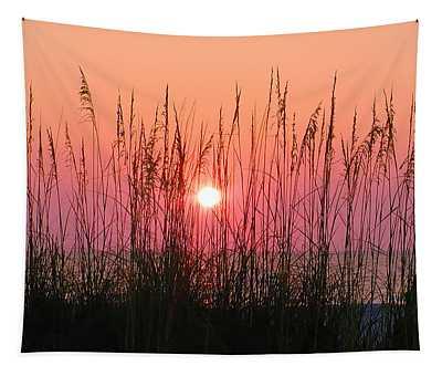 Dune Grass Sunset Tapestry