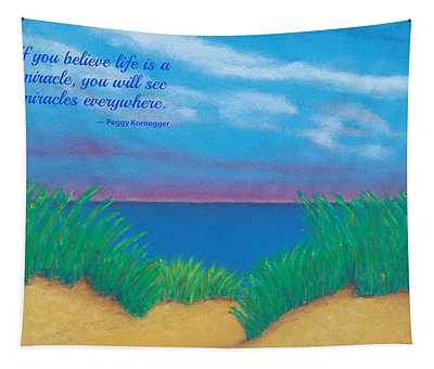Dunes At Dawn - With Quote Tapestry
