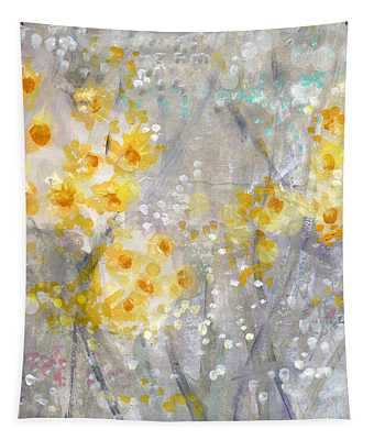 Dusty Miller- Abstract Floral Painting Tapestry