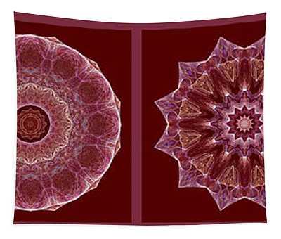 Dusty Rose Mandala Fractal Panel Tapestry