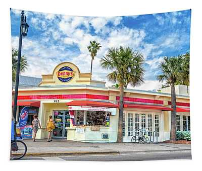 Duval Street Denny's Key West Florida Tapestry