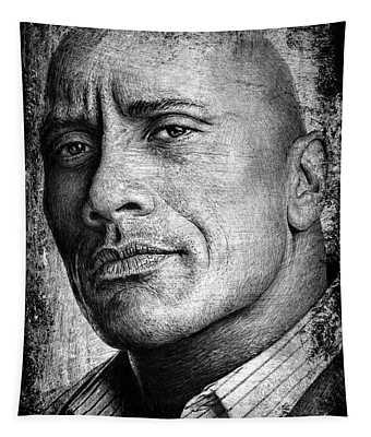 Dwayne Johnson Tapestry