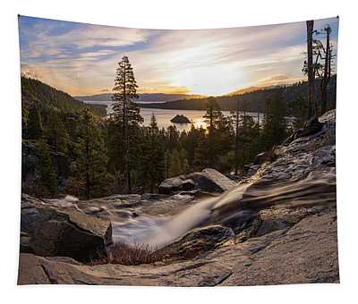 Eagle Falls Morning Glow By Brad Scott Tapestry