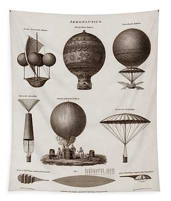 Early Balloon Designs Tapestry