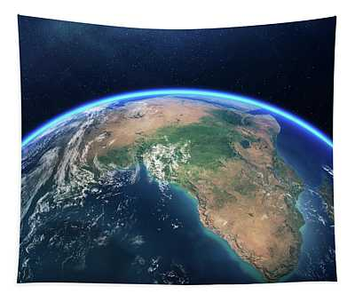 Earth From Space Africa View Tapestry