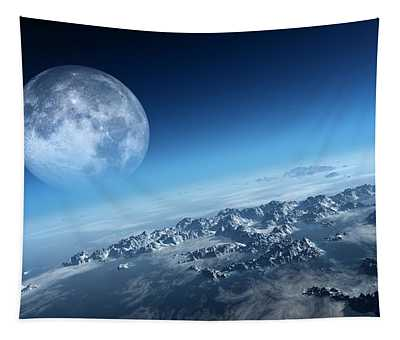 Earth Icy Ocean Aerial View Tapestry