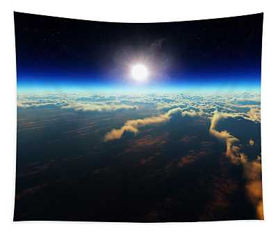 Earth Sunrise From Outer Space Tapestry