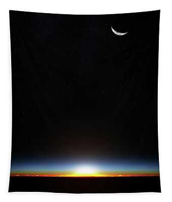 Earth Sunrise Through Atmoshere Tapestry