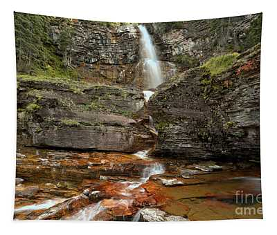 East Glacier Virginia Falls Tapestry