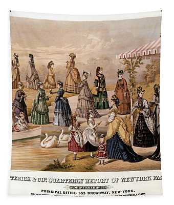 E.butterick And Co - Quarterly Report Of New York Fashions - Vintage Advertisnment Poster Tapestry