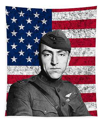 Eddie Rickenbacker And The American Flag Tapestry