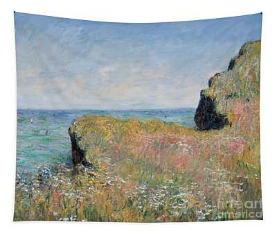 Edge Of The Cliff Pourville Tapestry