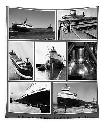 Edmund Fitzgerald Black And White Tapestry