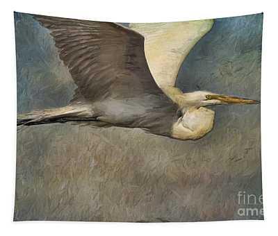 Egret Journey Tapestry