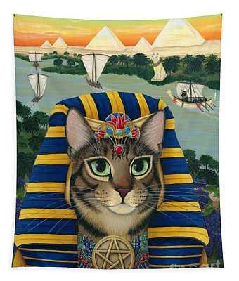 Egyptian Pharaoh Cat - King Of Pentacles Tapestry