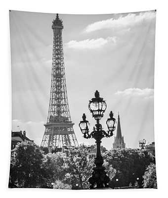 Eiffel Tower And Bridge Alexandre IIi Tapestry