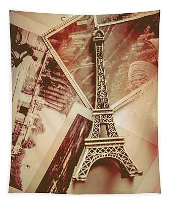 Eiffel Tower Old Romantic Stories In Ancient Paris Tapestry