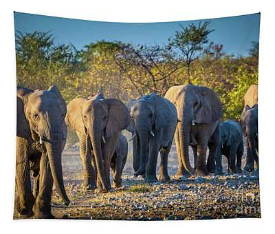 Eight Elephants Tapestry