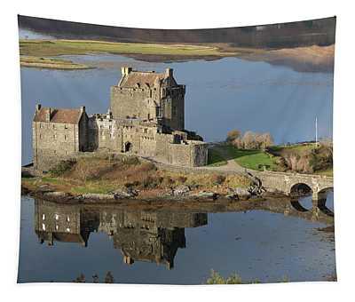 Eilean Donan Castle Reflections Tapestry