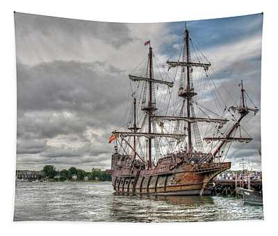 El Galeon Andalucia In Portsmouth Tapestry